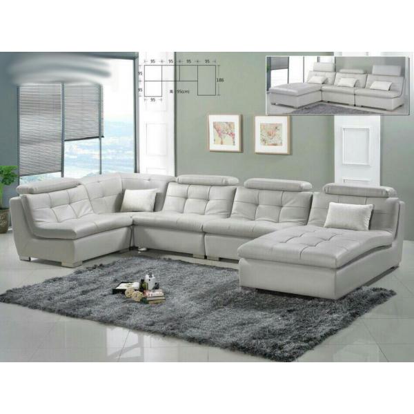 ㄇ型沙發 自由組合設計 科技牛皮