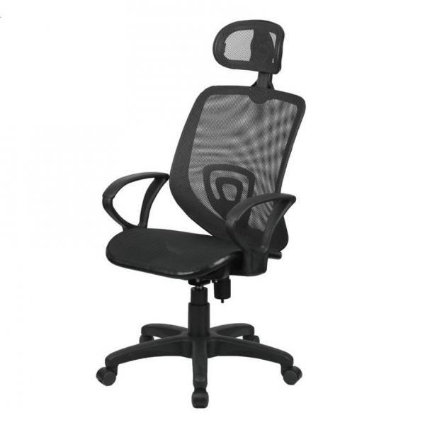 佐藤全網電腦椅 調整型頭枕