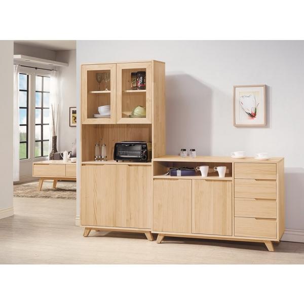 羅本北歐全實木餐櫃 置物櫃 2.7尺4尺
