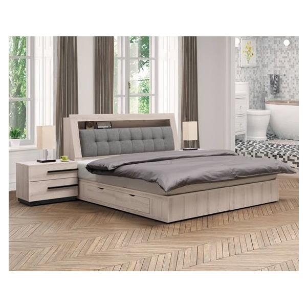 瑪爾斯床頭箱 5尺6尺 床頭枕設計