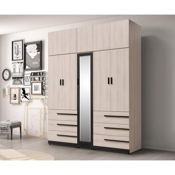 瑪爾斯6.6尺組合式高衣櫃 1.35尺2.7尺 上櫃設計 多尺寸設計