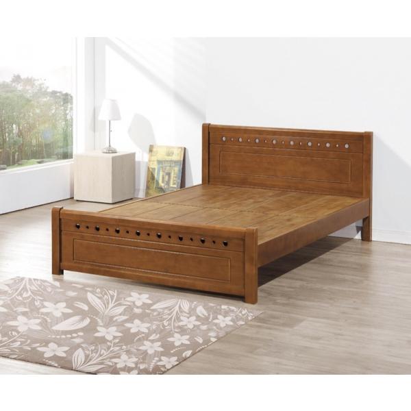 和風全實木床台 3.5尺5尺6尺 寬板全實木厚床板