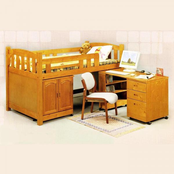 貝克漢全實木中高床 儲藏櫃書桌斗櫃層架