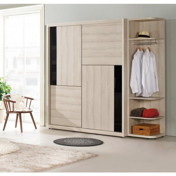 優娜5尺拉門衣櫃 1.5尺開放