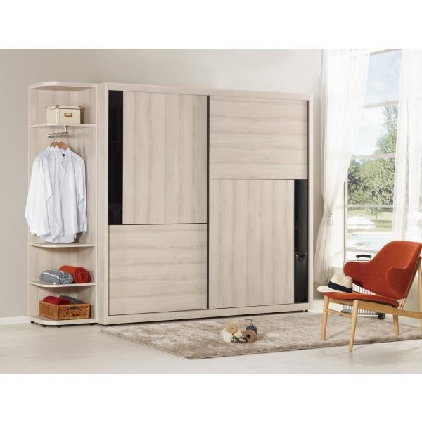優娜7尺拉門衣櫃 1.5尺開放
