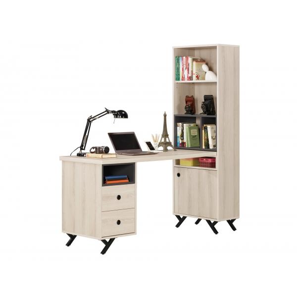 優娜5尺L型二抽書桌