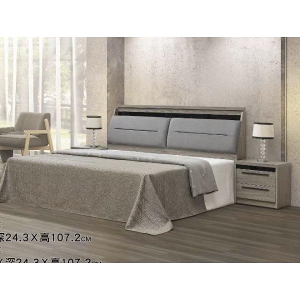 千尋灰橡床頭箱 5尺6尺 床頭枕設計