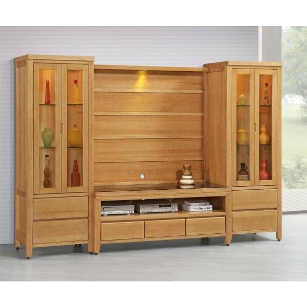 金澤香檜全實木電視櫃 5尺展示櫃背板