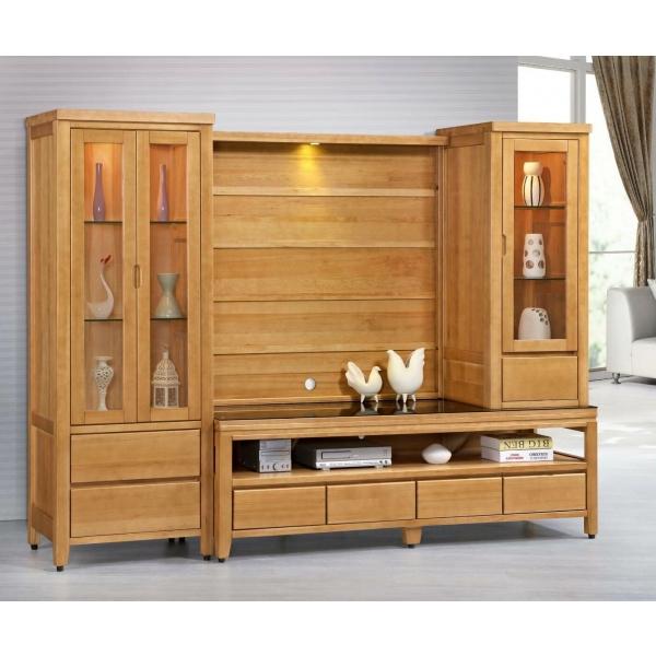 金澤香檜全實木電視櫃 6尺展示櫃上櫃背板