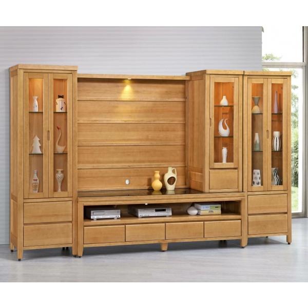 金澤香檜全實木電視櫃 7尺展示櫃上櫃背板