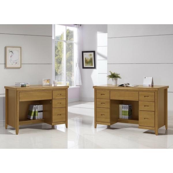 幸運草香檜實木書桌 3.5尺4.2尺 散發淡淡天然檜木香味