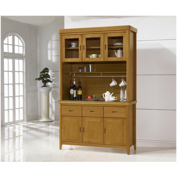 幸運草香檜實木餐櫃 4尺5尺 散發淡淡檜木香味