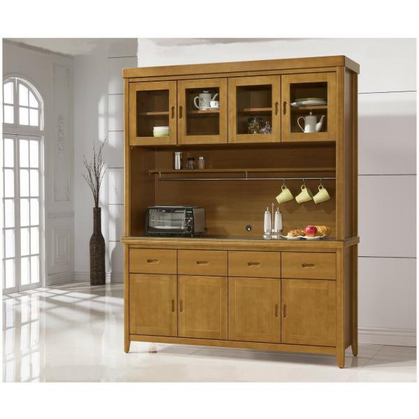 幸運草香檜實木餐櫃 5尺4尺 散發淡淡檜木香味