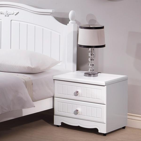瑪莎白色床頭櫃