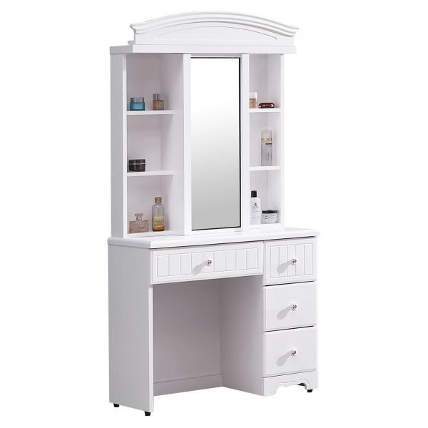 瑪莎白色2.7尺鏡台含椅