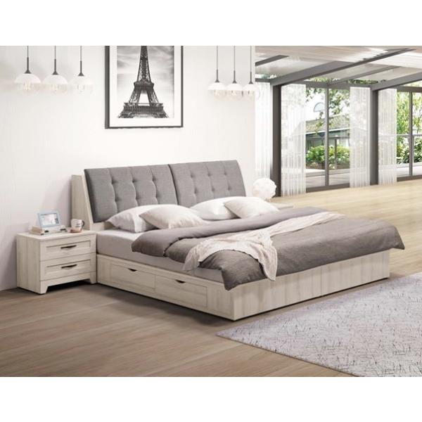 潔西床頭箱 5尺6尺 床頭枕設計