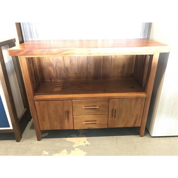 桃莉3.7尺全實木電器餐櫃 桃花心木