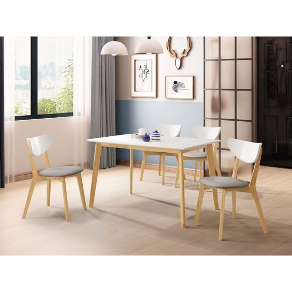 亨利原木雙色餐桌