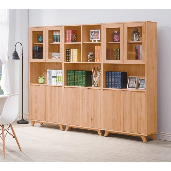 羅本北歐全實木2.7尺展示書櫃
