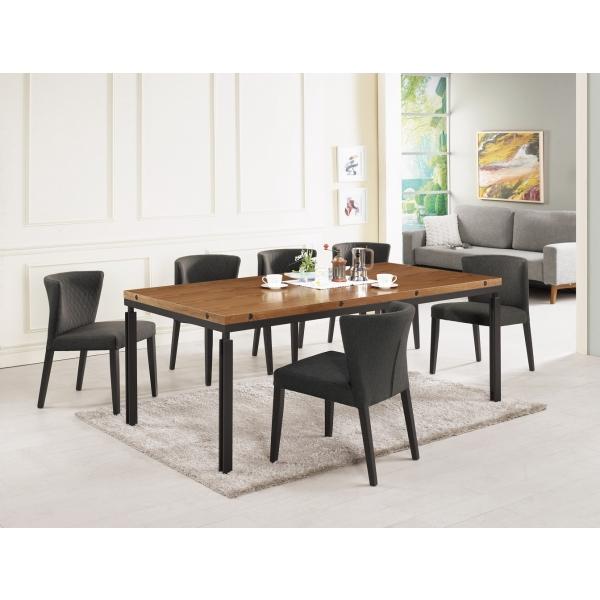 賈桂琳胡桃餐桌6.6尺 狄克餐椅