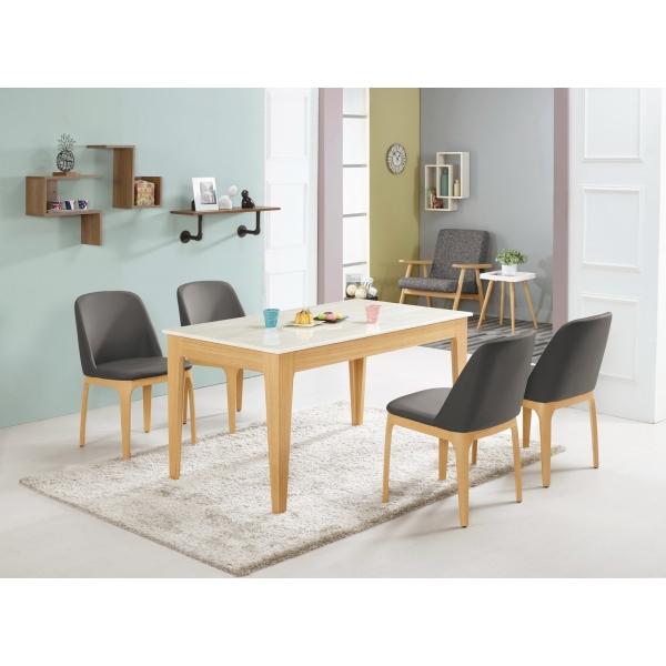 喬斯林原石餐桌4.6尺 席拉餐椅