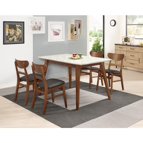 魯伯德4尺原石餐桌 羅拉餐椅
