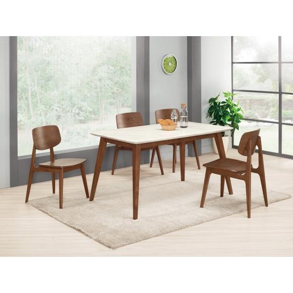 魯伯德5尺原石餐桌 卡爾馬餐椅