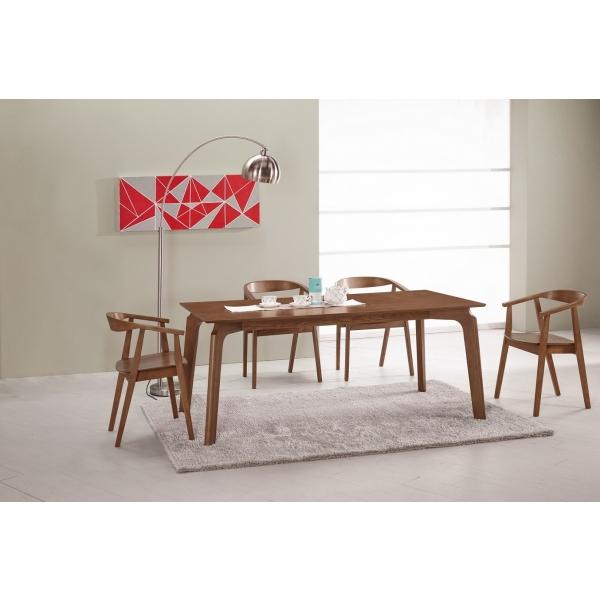 巴利6尺餐桌 奈德餐椅