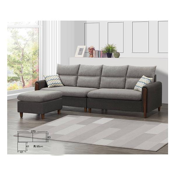摩斯 棉麻布沙發 高腳設計