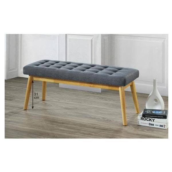 夏卡爾深灰布床尾椅