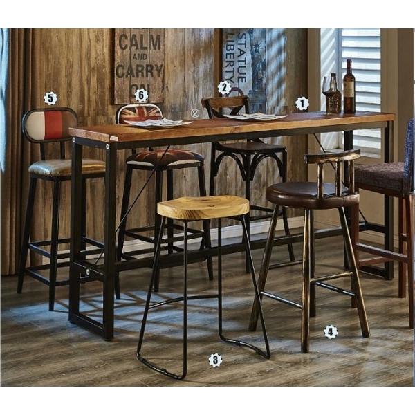 泰爾6.6尺實木吧台桌
