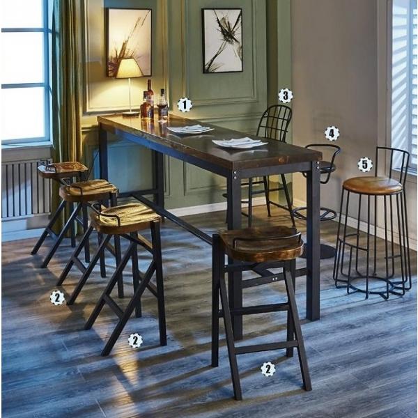 約翰8尺實木吧台桌