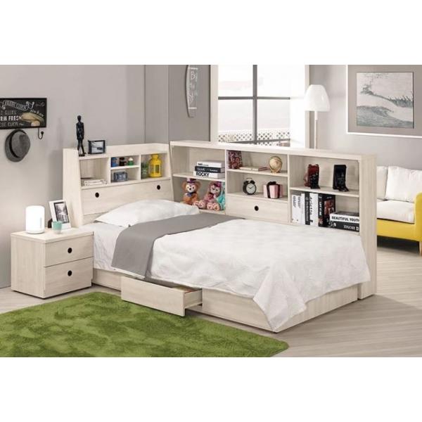 羅傑床頭箱 3.5尺5尺 書架型設計 床邊收納櫃