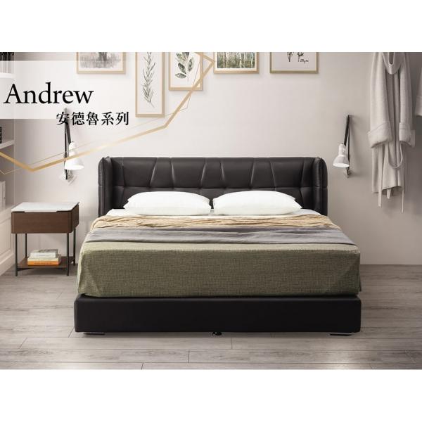 安德魯床頭片 黑色皮 5尺6尺
