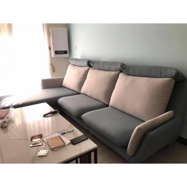 歐萊雅 涼感機能布沙發 可凹折頭枕設計