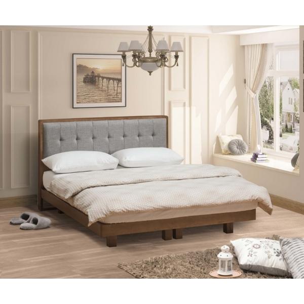 哥本哈根實木布面床頭片淺胡桃色 5尺6尺 床頭枕設計