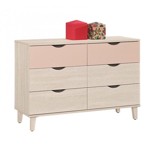 芬娜3.6尺六斗櫃粉紅