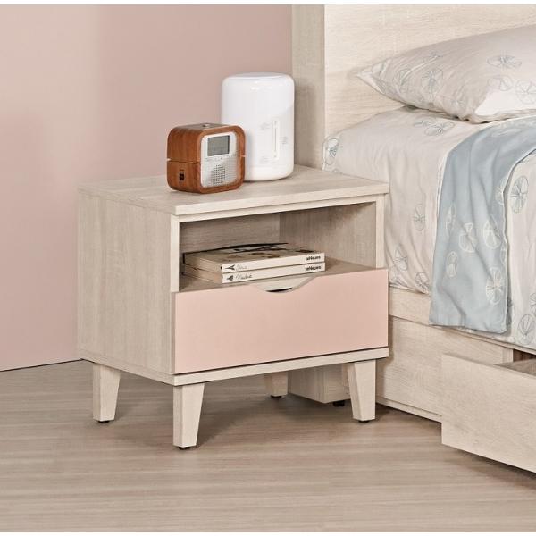 芬娜1.5尺床頭櫃粉紅