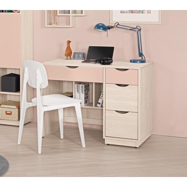 芬娜3.2尺書桌粉紅