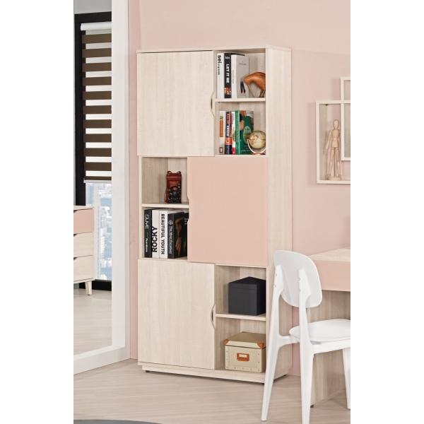 芬娜2.7尺書櫃粉紅