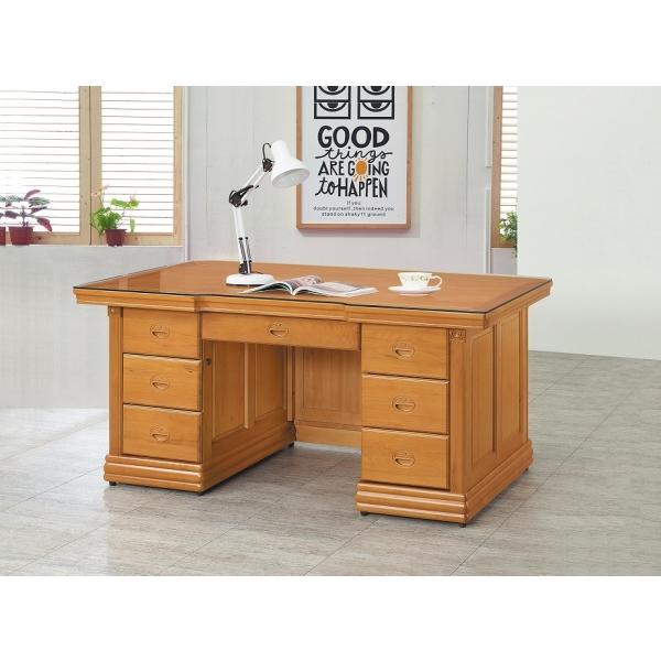 金泰香檜全實木辦公桌 5尺6尺