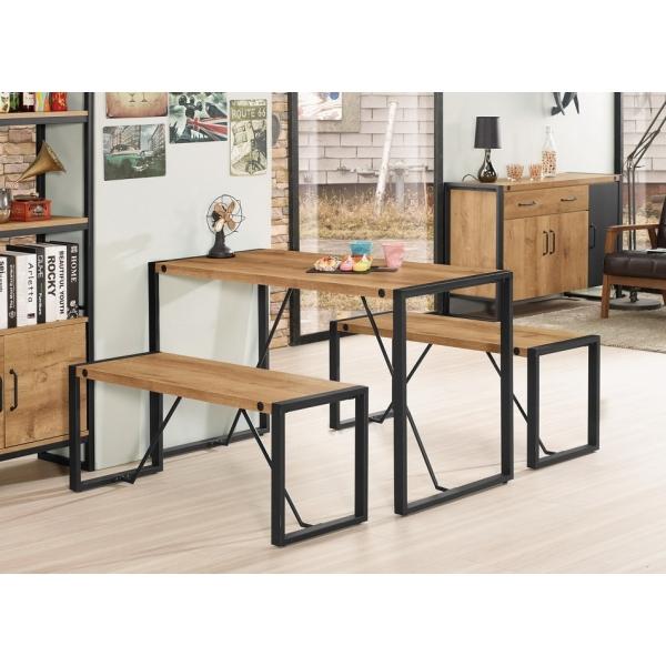 布朗克斯4尺多功能餐桌 3.3尺長板凳