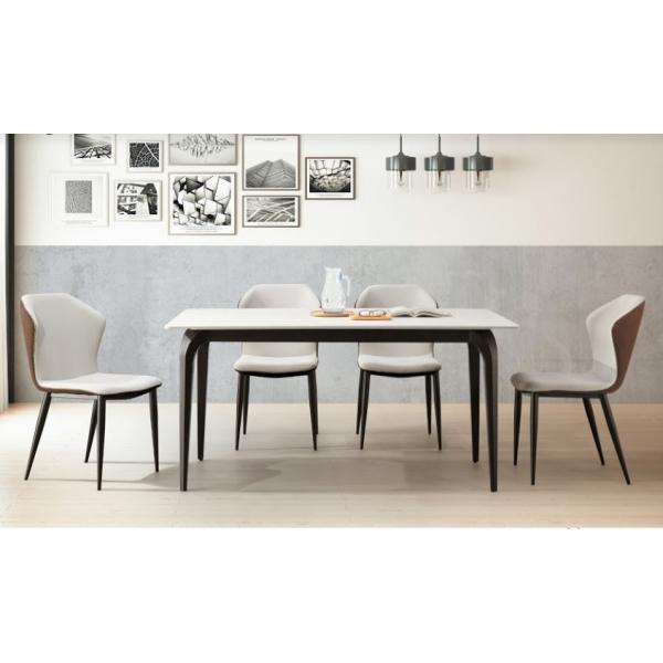 威斯特5.3尺岩板餐桌 威斯特餐椅