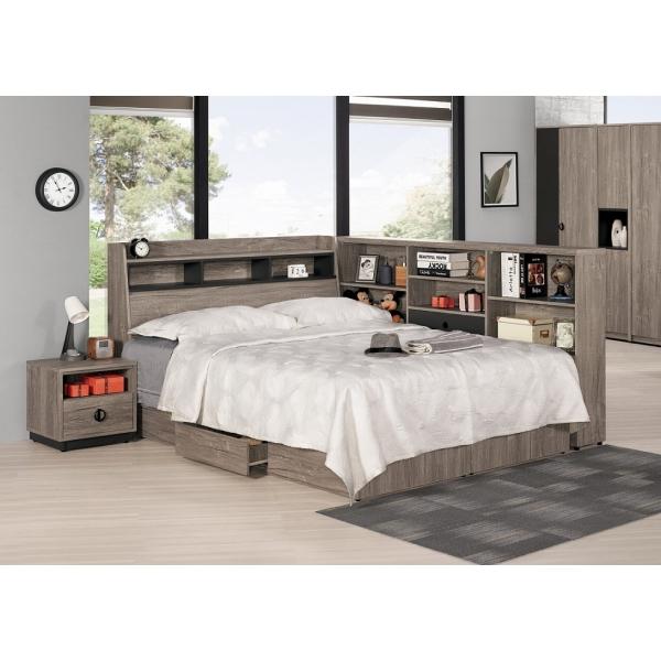 費納床頭箱 3.5尺5尺 書架型設計 床邊收納櫃