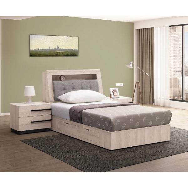 瑪爾斯床頭箱 3.5尺5尺6尺 床頭枕設計