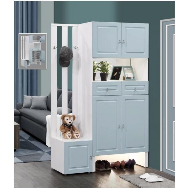 溫妮4尺隔間鞋櫃 格柵設計 座鞋櫃設計