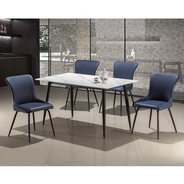 夏洛特岩板餐桌4尺4.3尺4.6尺5尺 夏洛特餐椅