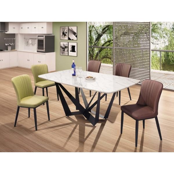 特倫斯6尺石面餐桌 里奇餐椅