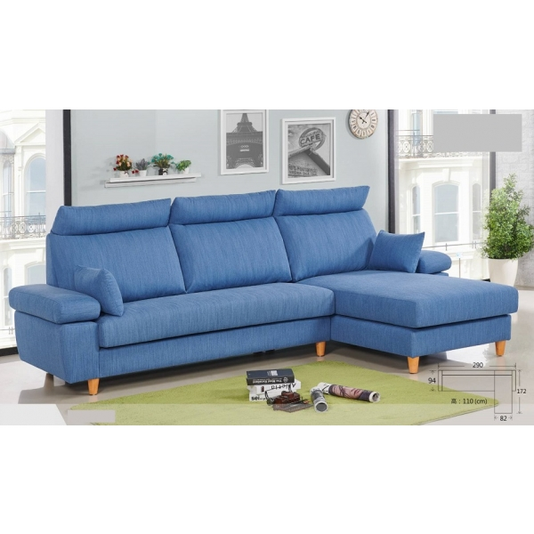 蒙布朗 貓抓布沙發 可凹折頭枕設計 扶手枕設計