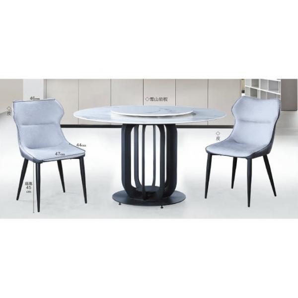諾亞4.3尺岩板圓餐桌